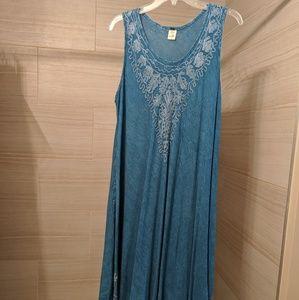 Blue summer tank dress